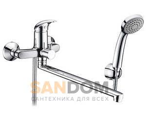 Isen 2602L Смеситель для ванны с длинным поворотным изливом