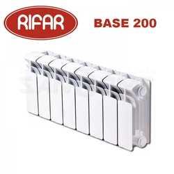 Биметаллические радиаторы отопления Rifar Base 200 с боковым подключением (от 4 до 14 секций)