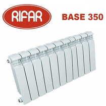 Биметаллические радиаторы отопления Rifar Base 350 с боковым подключением (от 4 до 14 секций)