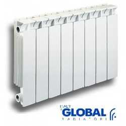 Биметаллические секционные Радиаторы отопления Global Style 425 с боковым подключением - 350 мм (от 4 до 14 секций)