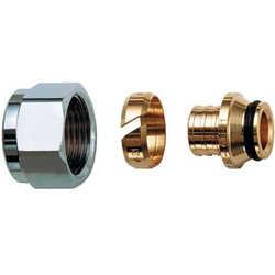 Фитинги FAR концовка для пластиковых труб (накидная гайка хром-трубная резьба под евроконус) Код: 6075