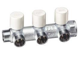 Коллекторы с балансировочными вентилями FAR (EK) с отводами типа «Eurokonus» (ТР) трубная резьба)
