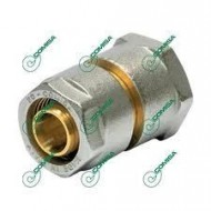 Переходник прямой с внутренней резьбой для металлопластиковых и PEX труб (Фитинги винтовые MULTI-FIT Comisa)