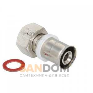 """Пресс-фитинг с накидной гайкой 16 мм х 1/2"""" VTm.222.N.001604"""