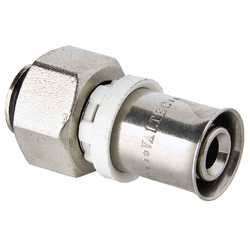 """Пресс-фитинг с накидной гайкой под «евроконус» 16 (2,0) мм х 3/4"""", VTc.712.NE.1605"""