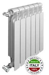 Радиаторы отопления биметаллические секционные Sira ALICE BiMetal 566 биметалл с боковым подключением - 500 мм (от 4 до 12 секций)