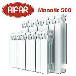 Радиаторы отопления Rifar Monolit L 577 биметалл с боковым подключением - 500 мм (от 4 до 14 секций)