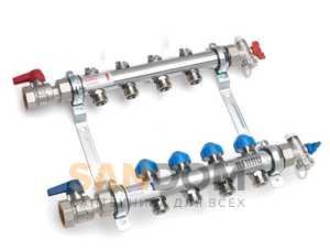 Распределительные коллекторы Rehau HKV с регулировочными вентилями для систем напольного отопления и теплого пола
