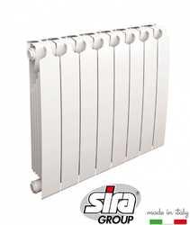 Секционные радиаторы отопления Sira RS L 572 биметалл с боковым подключением - 500 мм (от 4 до 12 секций)