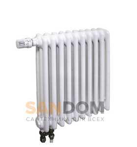 Стальные трубчатые радиаторы IRSAP Tesi RT 3 - 300 мм (трёхрядные) L365 с нижним подключением (от 8 до 26 секции)
