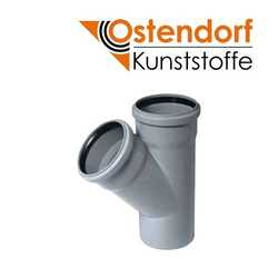 Тройник Ostendorf HTEA (ПП), отвод 45° гр