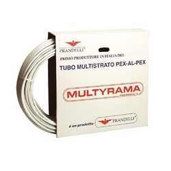 Труба металлопластиковая Prandelli Multyrama PEX-b D26х3.0 (0.5 мм), бухта 50 м