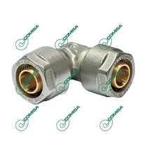 Уголок соединительный компрессионный для металлопластиковых и PEX труб (Фитинги обжимные MULTI-FIT Comisa)