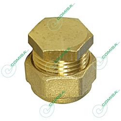 Заглушка компрессионная для медной трубы обжим (латунь) Comisa
